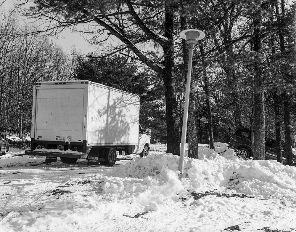 Truck in Snow, Athens, New York