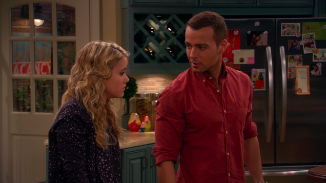 Vacancy print on Melissa and Joey which airs on ABC Family.