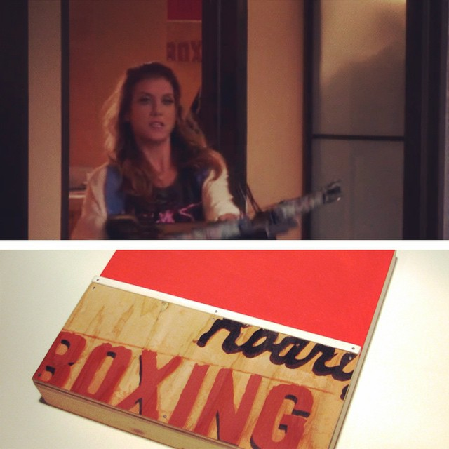 Red Boxing on NBC's Bad Judge.