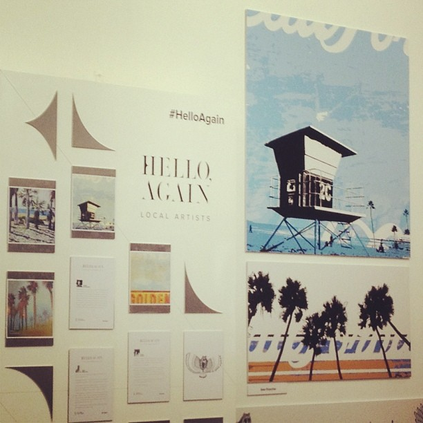 Artwork included at the Hello Again exhibit for Lincoln Motor Company.