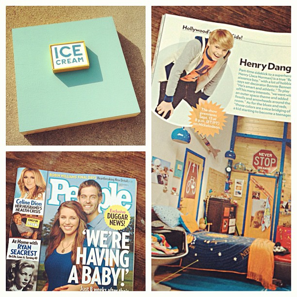 Ice Cream Painting in People Magazine's article on  Henry Danger  for Nickelodeon.