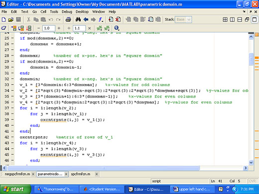 Parametric Domain Script