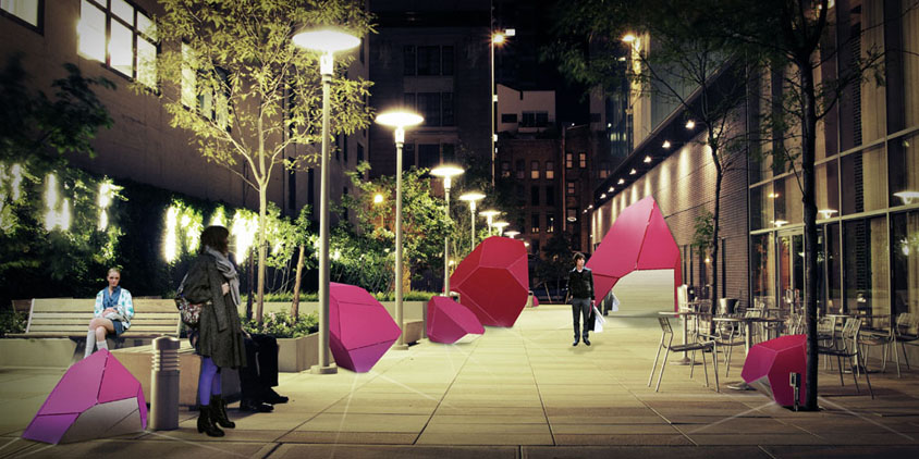 Color Block » Public Plaza Installation