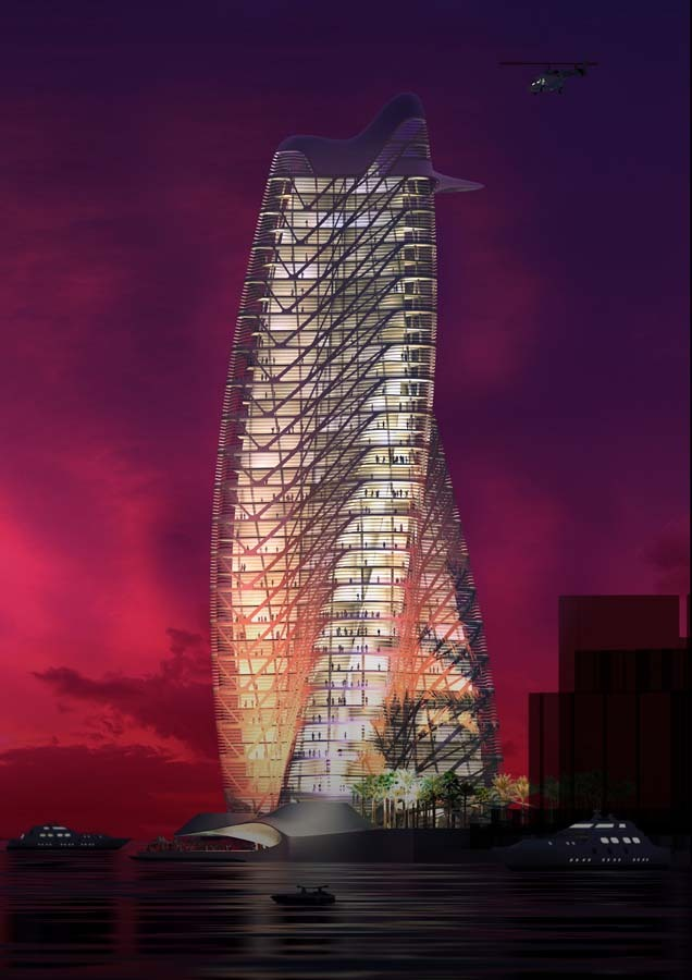 Strata Tower » Perspective Rendering