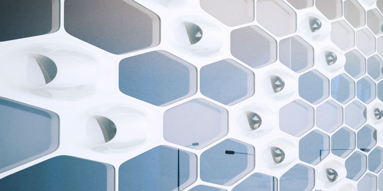 Turbine integrated facade system