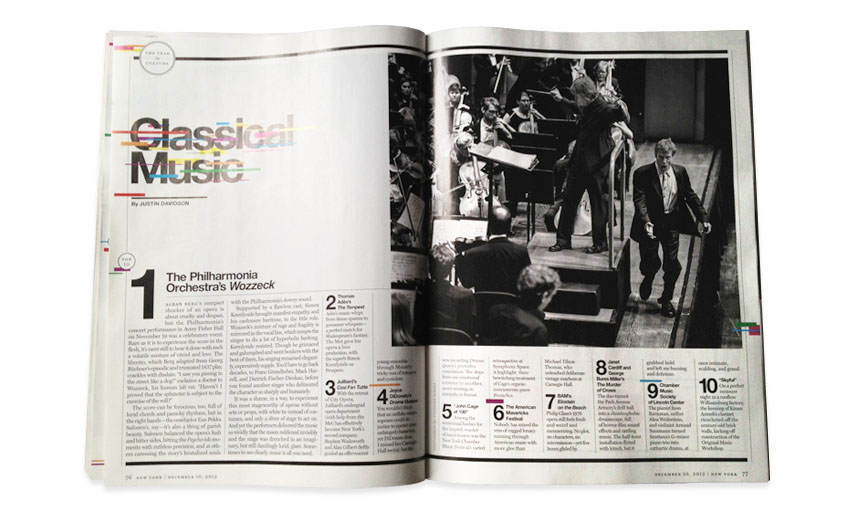 New York Magazine The Year In Culture Top 10 Classical Music