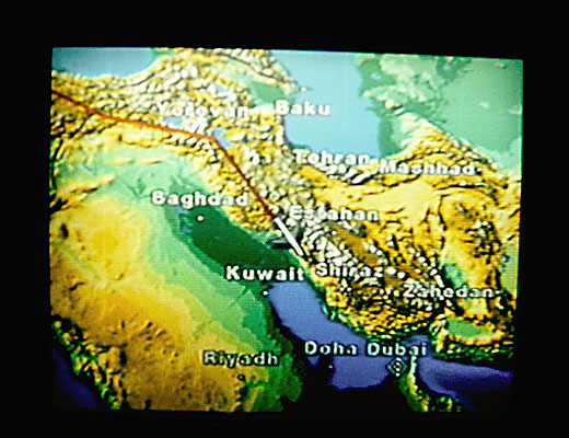Baghdad Map Inflight Monitor