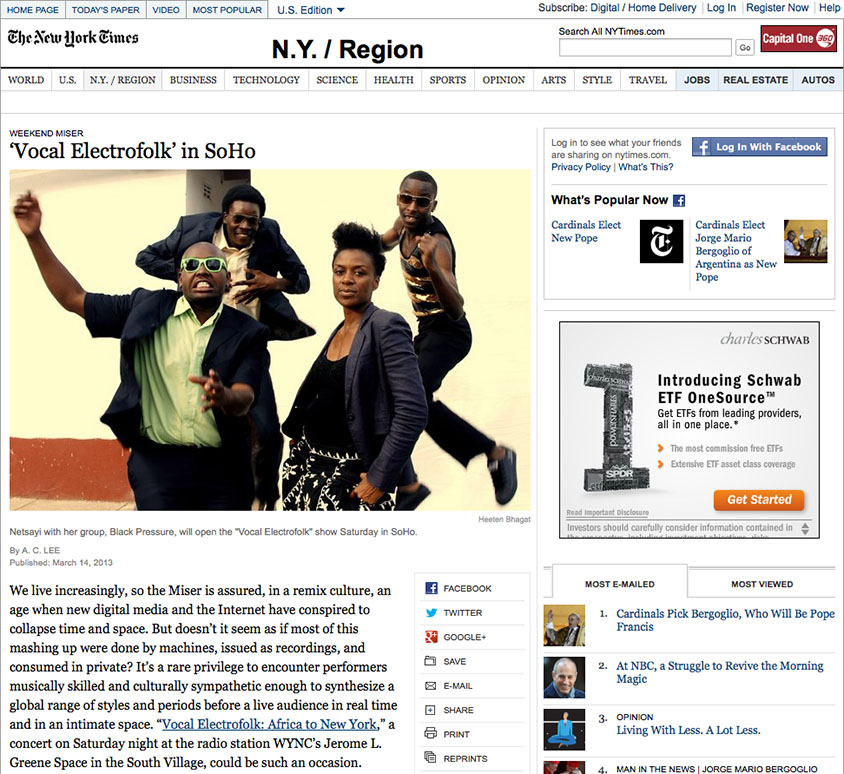 OMW's Vocal Electrofolk in New York Times