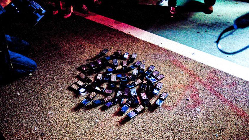 Somewhere I Read | Pile of Cellphones