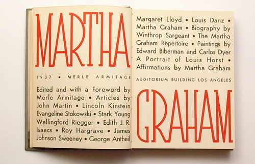 Martha Graham Book Cover