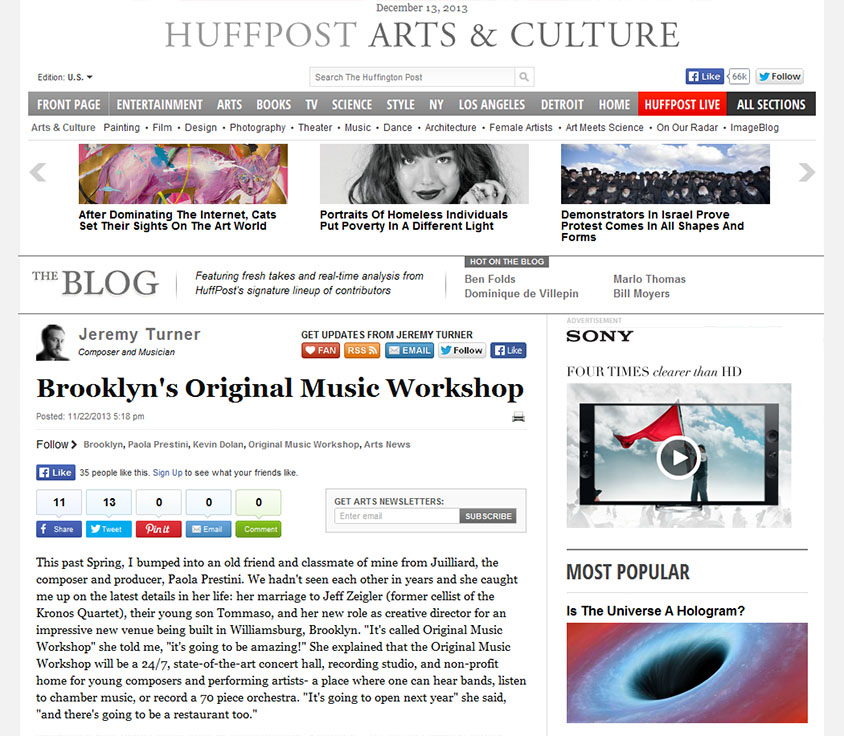 Original Music Workshop Huffington Post