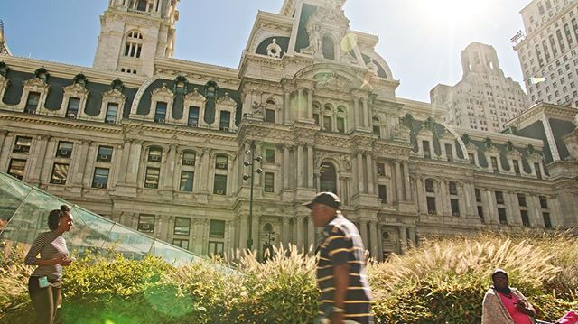 Favorite frame from the #cityhall sequence of this #philly film. #colorcorrection #lensflare
