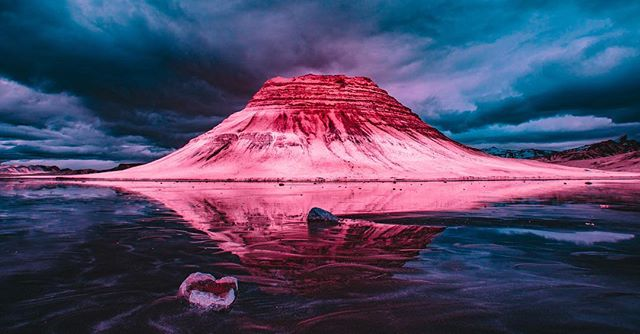 Infrared reflections. . . . . #infrared #reflection #iceland #kirkjufell