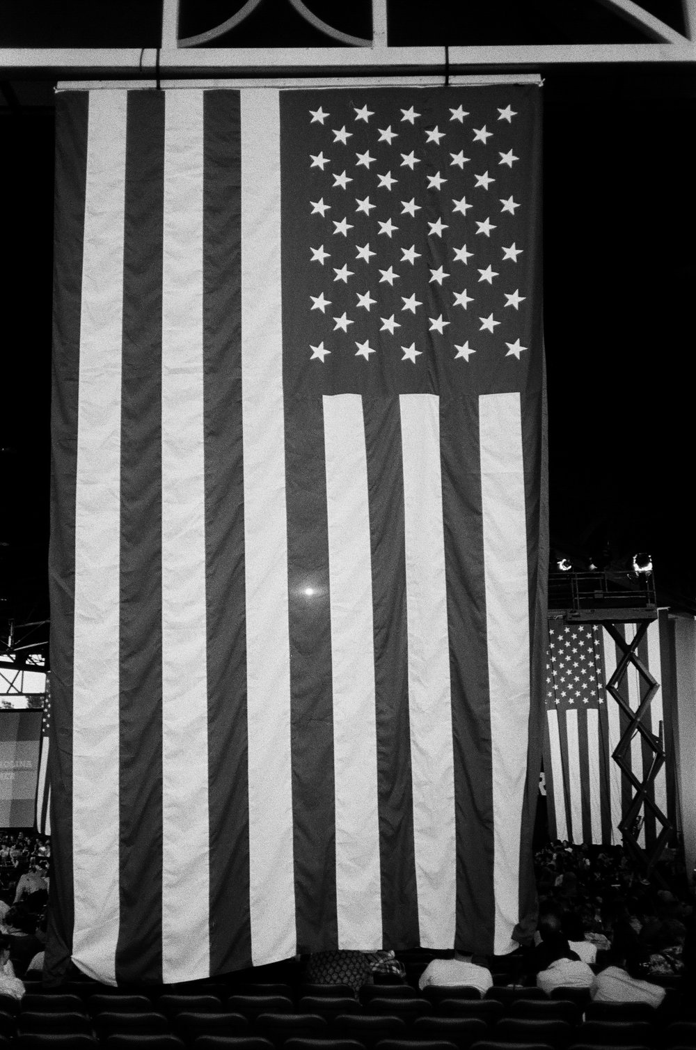 A giant American flag from a Clinton rally.