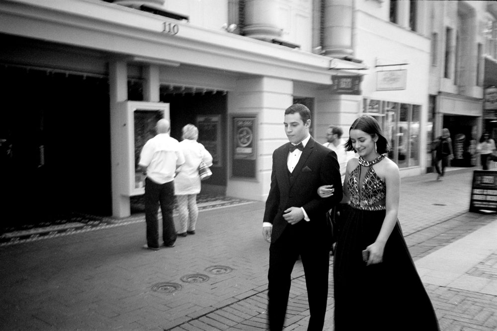 Prom night. Charlottesville Downtown Mall.
