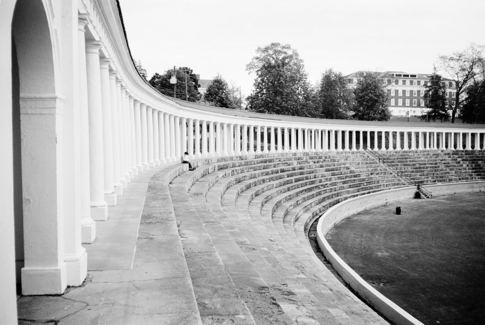 The Colonnade at the University of Virginia. Fuji Acros 100.