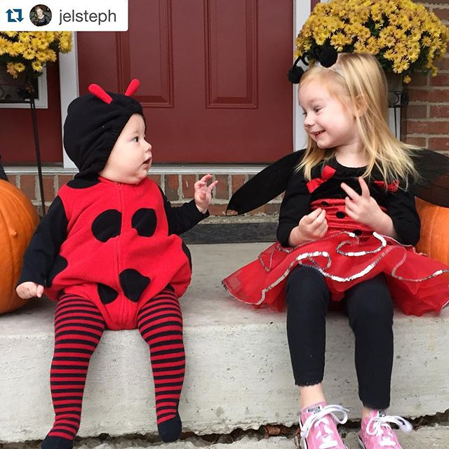Happy Halloween!!! #Repost @jelsteph with @repostapp. ・・・ Ladybug cousins!!
