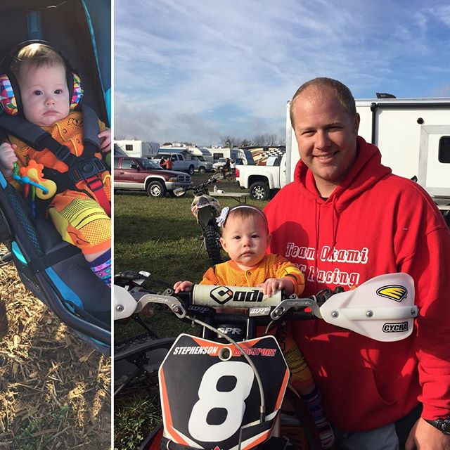 This baby takes racing very seriously!  @ktmusa #raceface #ironman