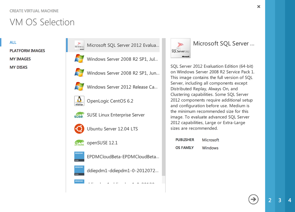 "Step 3: Click ""Microsoft SQL Server 2012"""