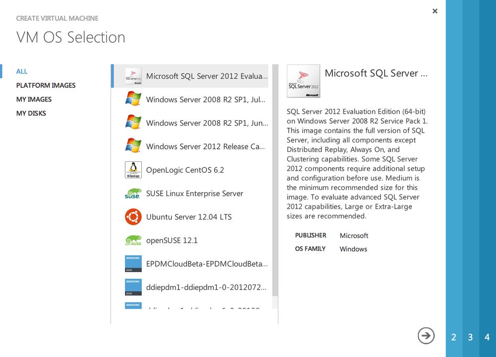 "Step 3: Click ""Microsoft SQL Server 2012"""