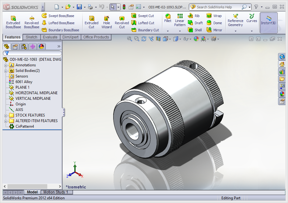 SolidWork without RealView
