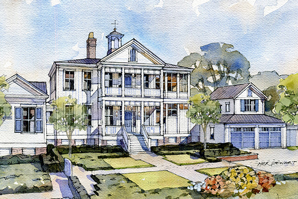 - Partnered with Historical Concepts and Riverside Custom Homes to produce the construction drawings for permits for the 2019 Southern Living Idea House, currently under construction.