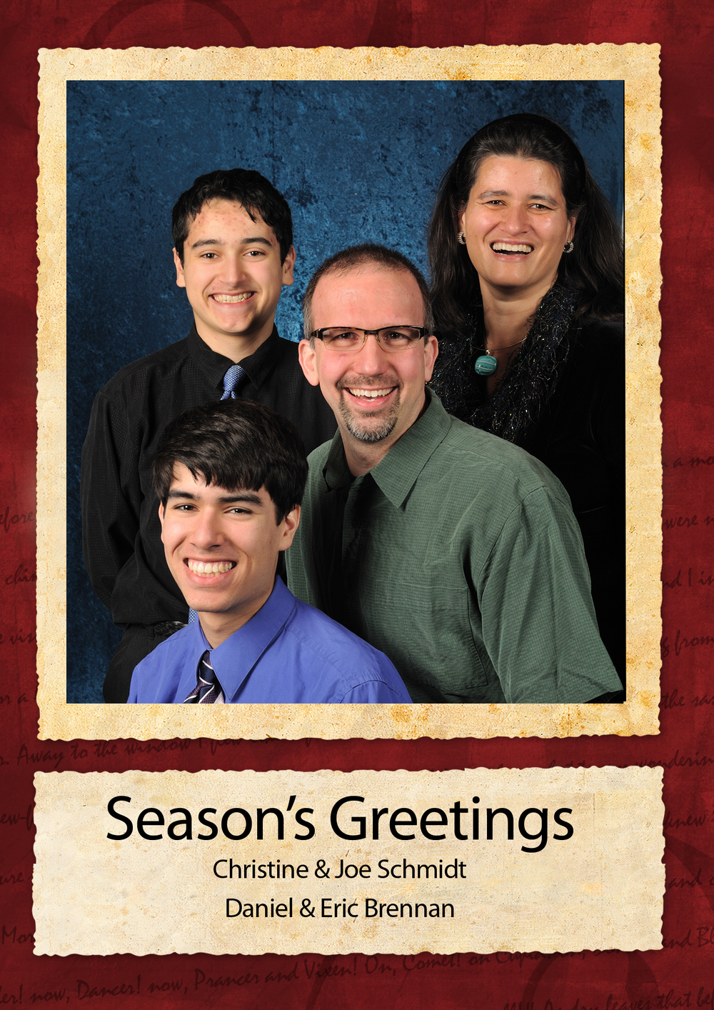 2009 Holiday Card - Front