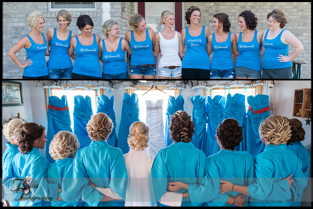 006_Bolla_Photography-wedding-preparations-bride-dress-bridesmaids-turquoise-hair-robes-matching-shirts-Albers-Gerstner.jpg