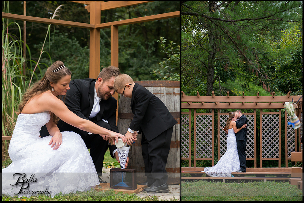 010_Bolla_Photography-outdoor-wedding-fall-ceremony-bride-groom-son-sand-trees-first_kiss-Mills_Apple_Farm-Marine-Collinsville-Caseyville-Carlton.jpg