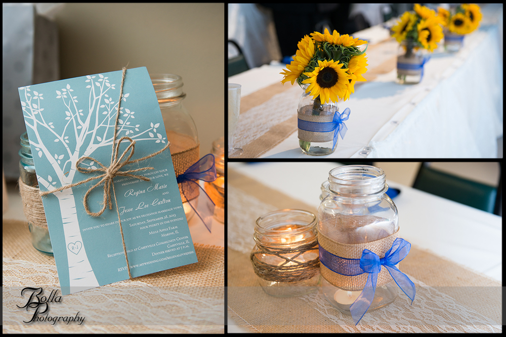 011_Bolla_Photography-outdoor-wedding-fall-details-invitation-centerpieces-mason-jars-candles-sunflowers-blue-burlap-lace-twine-Collinsville-Caseyville-Carlton.jpg