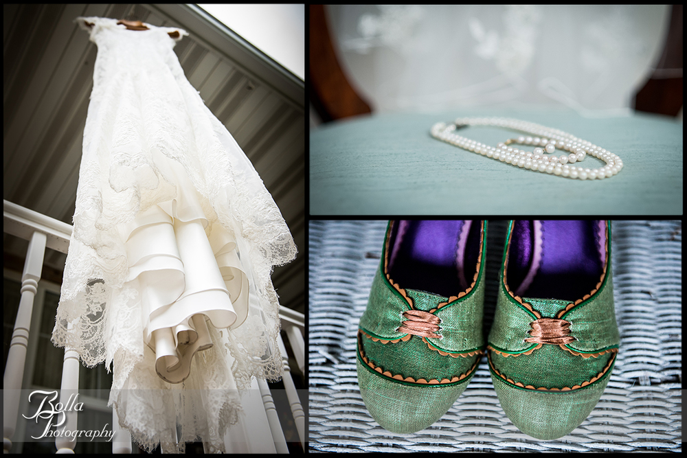 002_Bolla_Photography-wedding-fall-preparations-details-bride-dress-pearls-green-shoes-Breese-Kuhl.jpg
