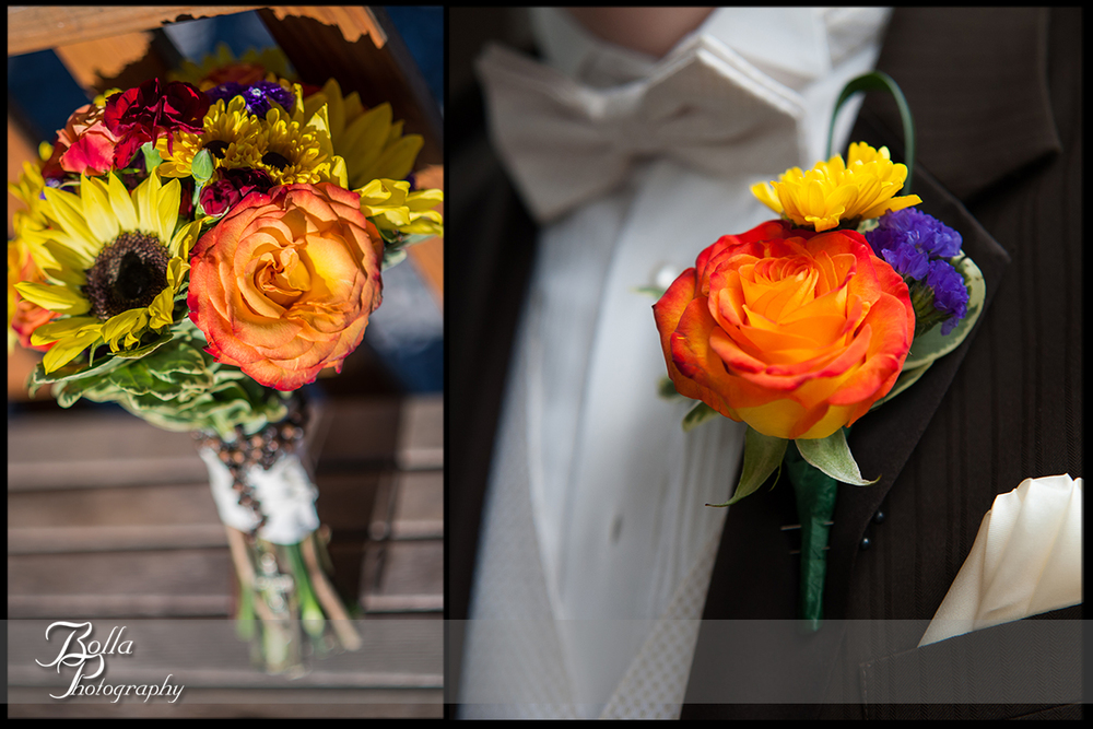 004_Bolla_Photography-wedding-fall-details-bouquet-boutonniere-sunflower-orange-roses-brown-suit-Breese-Kuhl.jpg
