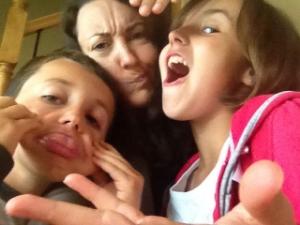 Les enfants et moi, lors d'un de nos #vendredisortie l'été dernier.