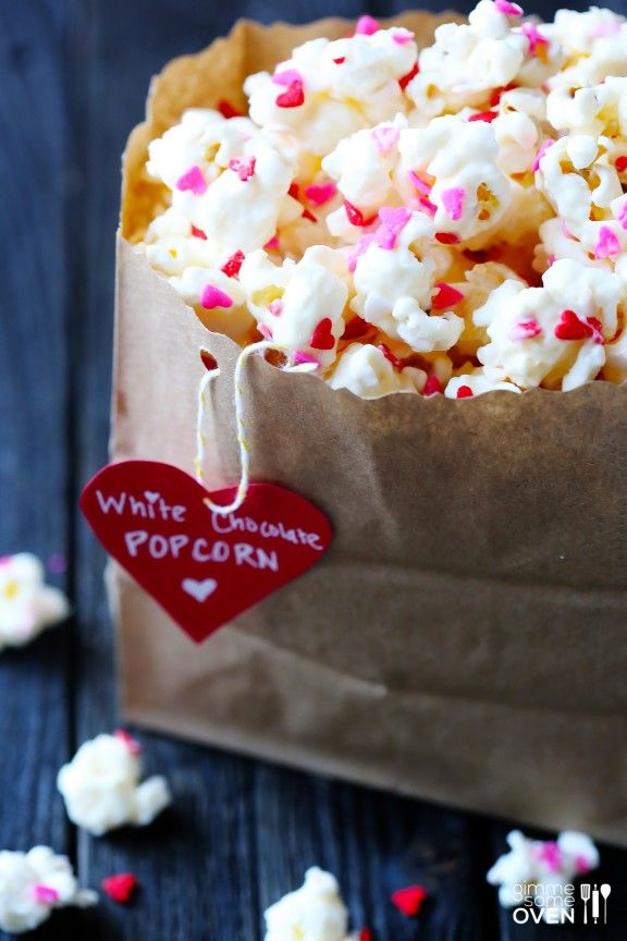Du popcorn spécial Saint-Valentin