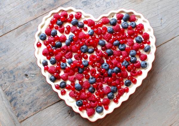 Une tarte en forme de coeur