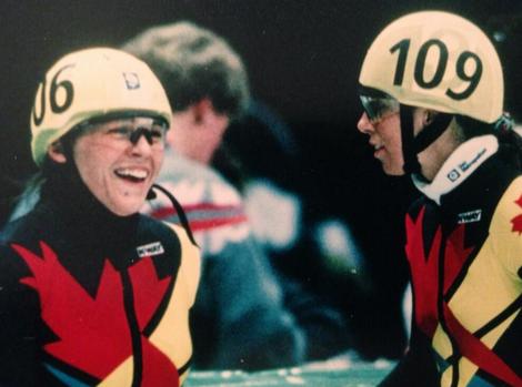 Isabelle Charest et Nathalie Lambert aux Jeux Olympiques. Crédit photo : Isabelle Charest / Twitter