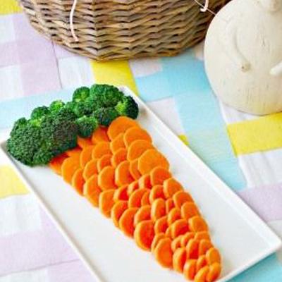 Une carotte en crudités