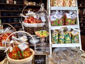Beau choix de bonbons chez Williams-Sonoma