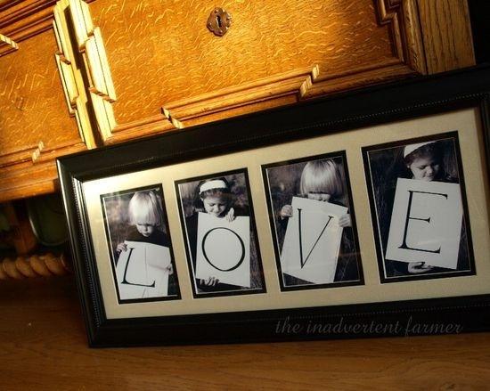 Un cadre rempli d'amour