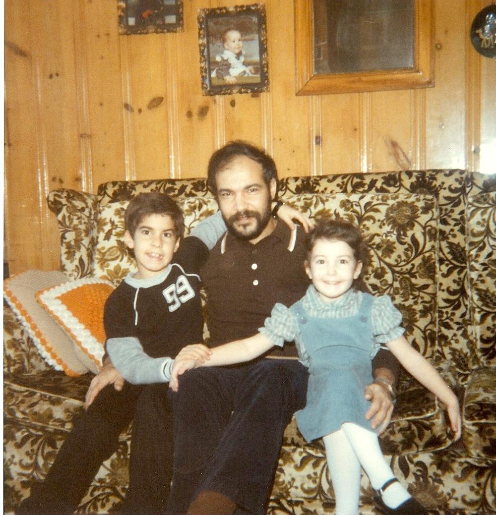 Mon frère, mon père et moi.