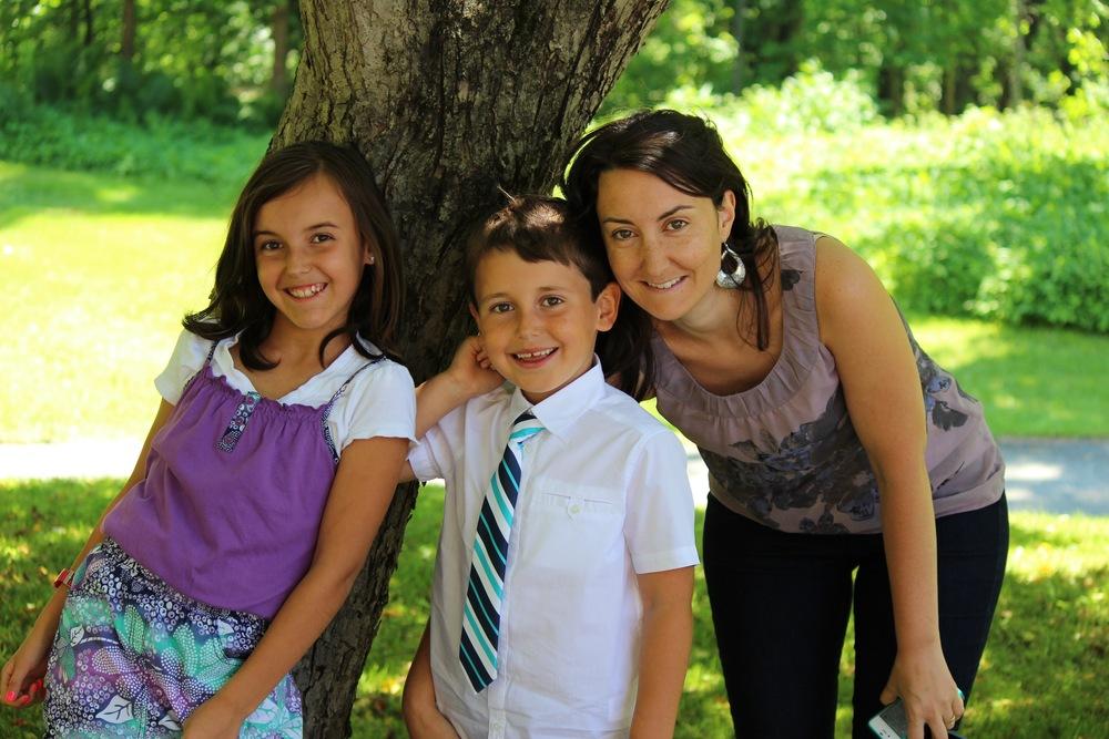 Les enfants et moi en 2012. Je l'aime tellement cette photo. :-)