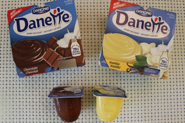 L'emballage des Danette.