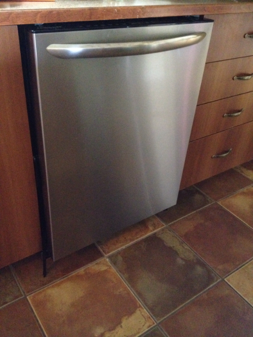 Notre nouveau lave-vaisselle.