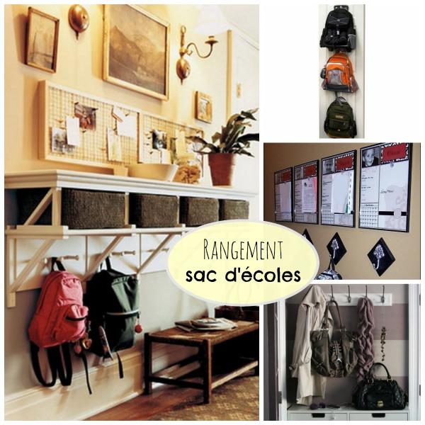rangement pour les sacs d 39 cole des id es je suis une maman. Black Bedroom Furniture Sets. Home Design Ideas