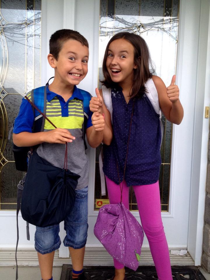 La fameuse photo avant de quitter pour l'école.