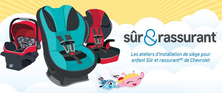 Installation de siège pour enfant Sûr et rassurant