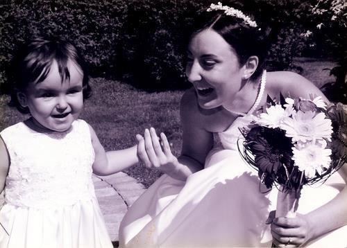 Poulette, Fiston dans mon ventre et moi le 4 sept 2004.