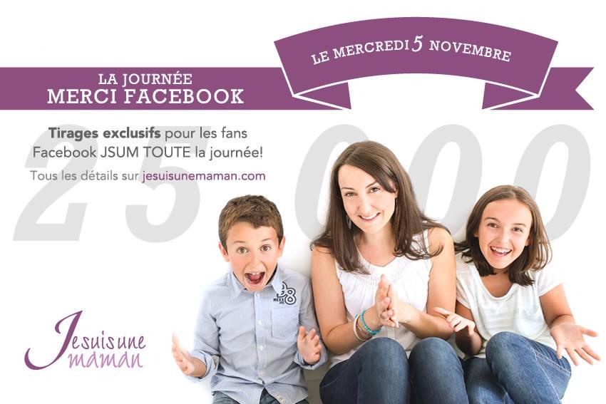 Journée «Merci Facebook» le 5 novembre prochain !
