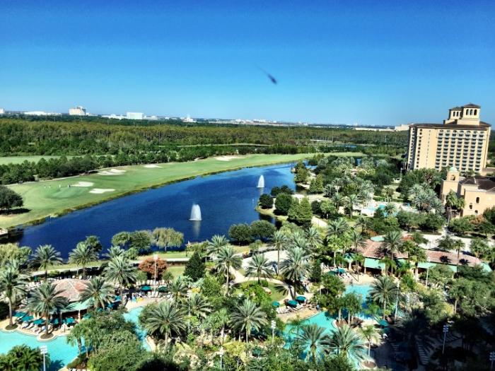 La vue de notre chambre d'hôtel. Magnifique.