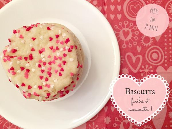 Biscuits Saint-Valentin
